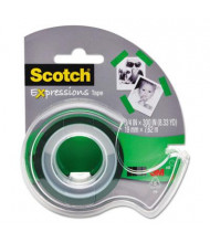 "Scotch Expressions Magic Tape with Dispenser, Green, 1"" Core"