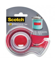 """Scotch Expressions Magic Tape with Dispenser, Red, 1"""" Core"""