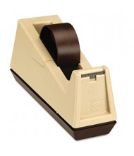 "Scotch Heavy-Duty Core Weighted Tape Dispenser, Putty/Brown, 3"" Core"