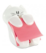 "Post-It Pop-Up Note Dispenser Cat Shape for 3"" x 3"" Pads, White"