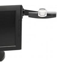 3M 30-Sheet Capacity Plastic Monitor Mount Adhesive Copyholder, Black