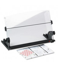 3M 150-Sheet Capacity Plastic In-Line Freestanding Copyholder, Black/Clear