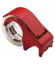 "Scotch Compact and Quick Loading Dispenser for Box Sealing Tape, Red, 3"" Core"