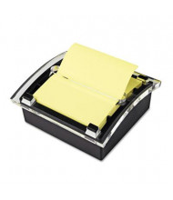 "Post-It Note Clear Top Dispenser for 3"" x 3"" Pop-Up Notes, Black"