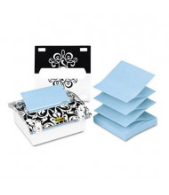 "Post-it Pop-up Note Dispenser with Designer Insert for 3"" x 3"" Pop-Up Notes, Clear"