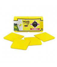 """Post-It 3"""" X 3"""", 12 25-Sheet Pads, Electric Yellow Super Sticky Notes"""