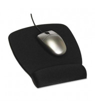 "3M 8-1/2"" x 6-3/4"" Foam Nonskid Mouse Pad with Wrist Rest, Black"