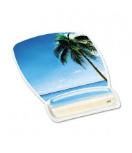 "3M 9-1/8"" x 6-3/4"" Fun Design Clear Gel Mouse Pad Wrist Rest, Beach Design"
