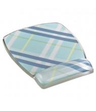"3M 8-3/5"" x 6-4/5"" Fun Design Clear Gel Mouse Pad Wrist Rest, Plaid"