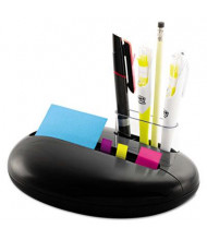 "Post-It Note and Flag Combo Pebble Dispenser for 3"" x 3"" Pads, Black"