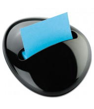 "Post-it Note Pebble Dispenser for 3"" x 3"" Pads, Black"