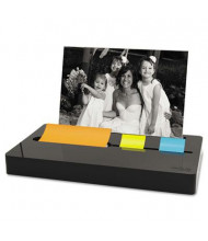 "Post-it Pop-up Note & Flag Dispenser with Photo Frame for 3"" x 3"" Pads & 50 1"" Flags, Black"