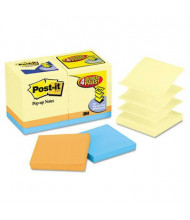"Post-It 3"" X 3"", 18 100-Sheet Pads, Canary Yellow & Cape Town Pop-Up Notes"