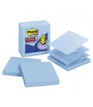 "Post-It 4"" X 4"", 5 90-Sheet Pads, Lined Periwinkle Blue Pop-Up Notes"