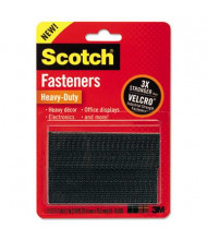 "Scotch 1"" x 3"" Heavy-Duty Hook and Loop Fastener Tape, 2 Sets"
