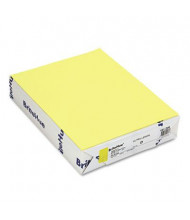 "Mohawk BriteHue 8-1/2"" X 11"", 20lb, 500-Sheets, Ultra Lemon Multipurpose Colored Paper"