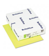 "Mohawk BriteHue 8-1/2"" X 11"", 24lb, 500-Sheets, Ultra Lime Multipurpose Colored Paper"