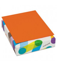 "Mohawk BriteHue 8-1/2"" X 11"", 20lb, 500-Sheets, Orange Multipurpose Colored Paper"
