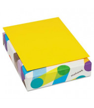 "Mohawk BriteHue 8-1/2"" X 11"", 20lb, 500-Sheets, Sun Yellow Multipurpose Colored Paper"