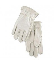 MCR Safety Memphis X-Large Full Leather Cow Grain Driver Gloves, Tan, 12 Pairs