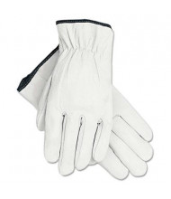 MCR Safety Memphis Large Grain Goatskin Driver Gloves, White, 12 Pairs