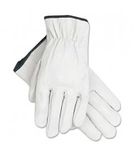 MCR Safety Memphis X-Large Grain Goatskin Driver Gloves, White, 12 Pairs