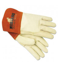 MCR Safety Memphis Mustang Medium MIG & TIG Leather Welding Gloves, Tan, 12 Pairs