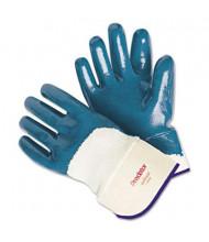 MCR Safety Memphis Predator Large Nitrile Gloves, Blue/White, 12 Pairs