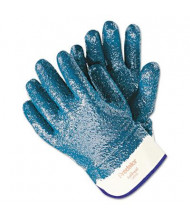 MCR Safety Memphis Predator Large Premium Nitrile-Coated Gloves, Blue/White, 12 Pairs