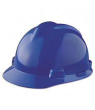 MSA V-Gard Staz-On Pin-Lock Suspension Hard Hat, Size 6-1/2 to 8, Blue