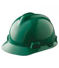 MSA V-Gard Fas-Trac Ratchet Suspension Hard Cap, Green