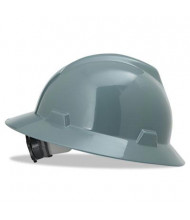 MSA V-Gard  Fas-Trac Ratchet Suspension Hard Hat, Size 6-1/2 to 8, Gray