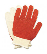 North Safety Smitty Medium Nitrile Palm Coated Gloves, White/Red, 12 Pairs