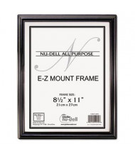 "NuDell EZ Mount 8.5"" W x 11"" H Document Frame, Black"