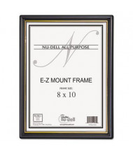 "NuDell EZ Mount 8"" W x 10"" H Document Frame, Gold/Black"