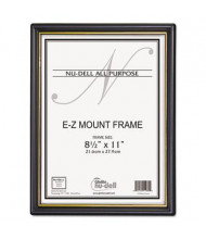 "NuDell EZ Mount 8.5"" W x 11"" H Document Frame, Black/Gold, 18 Pack"
