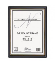 "NuDell EZ Mount 8.5"" W x 11"" H Document Frame, Black/Gold"