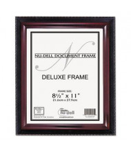 "NuDell Executive 8.5"" W x 11"" H Document Frame, Black/Mahogany"