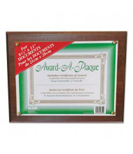 "NuDell 13"" W x 10.5"" H Award-A-Plaque, Walnut"