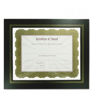 "NuDell Leatherette 8.5"" W X 11"" H Document Frame, Black, 2-Pack"