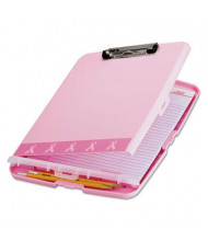 """Officemate 3/4"""" Capacity 8-1/2"""" x 11"""" Breast Cancer Awareness Clipboard Box, Pink"""
