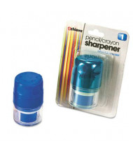 Officemate Twin Pencil & Crayon Sharpener with Cap