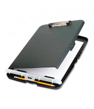 """Officemate 1/2"""" Capacity 9"""" x 12"""" Low-Profile Storage Clipboard, Charcoal"""