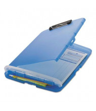 "Officemate 1"" Capacity 8-1/2"" x 11"" Low-Profile Storage Clipboard, Translucent Blue"