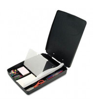 """Officemate 1"""" Capacity 8-1/2"""" x 11"""" Extra Storage Supply Clipboard Box, Charcoal"""