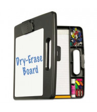 "Officemate 1/2"" Capacity 8-1/2"" x 11"" Portable Dry Erase Clipboard Case, Charcoal"