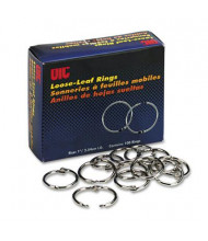 "Officemate 1"" Diameter Loose-Leaf Book Rings, 100/Box"