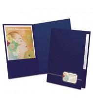 "Oxford 80-Sheet 8-1/2"" x 11"" Two-Pocket Folder, Blue, 4-Pack"