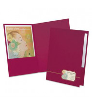 "Oxford 80-Sheet 8-1/2"" x 11"" Twin Pocket Folders, Burgundy, 4-Pack"