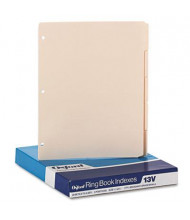 "Oxford 8-1/2"" x 11"" Blank 5-Tab 3-Hole Index Dividers, Manila, 100/Box"